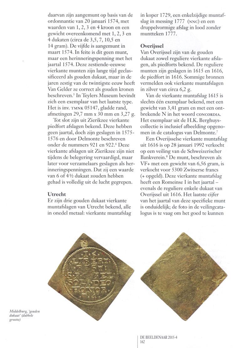 Vierkante gouden dukaten