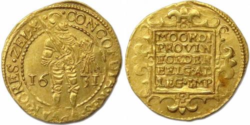 Zeeland 1631 gold ducat (source: www.monnaiesdantan.com)