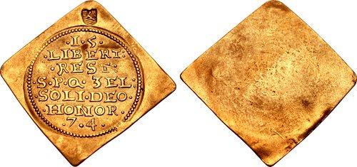 Middelburg 1574 klippe ducat (a commemorative piece) / CNG Triton XIX, Lot 2554