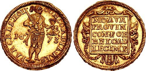 Amsterdam 1673 piedfort ducat / CNG Triton XIX, Lot 2559