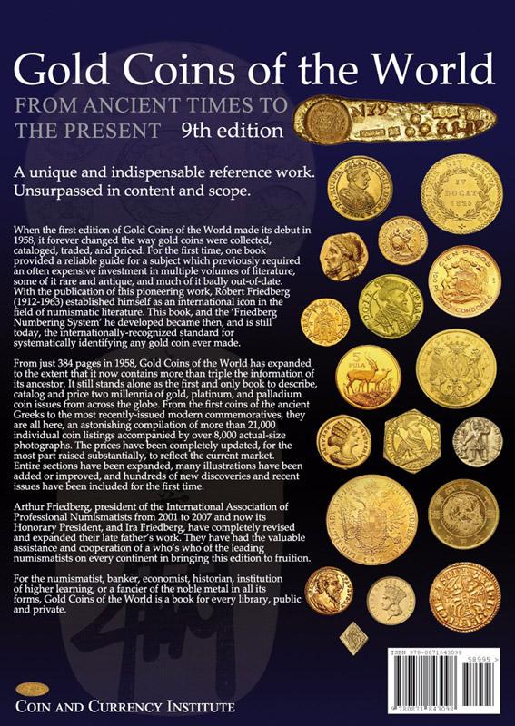 Arthur Friedberg Gold Coins Of The World 2017