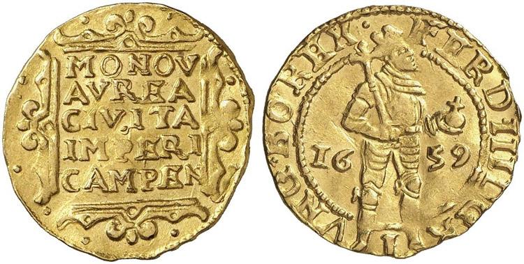 Kampen 1659 ducat